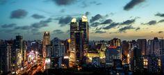 shanghai xujiahui center skyline, in xuhui district