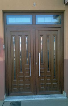 House Roof Design, Window Grill Design, Wooden Front Door Design, Wooden Front Doors, Classic House Design, Modern Design, Double Doors Interior, Entrance Design, Modern Door