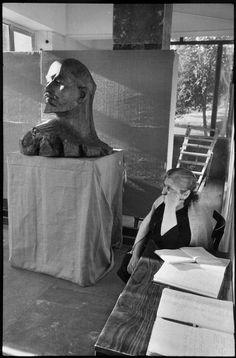 Henri Cartier-Bresson // SOVIET UNION. Armenia. 1972 - Erevan. Guard in the museum.