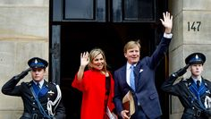 King Willem-Alexander and Queen Maxima hold the traditional New Year's receptions in the Royal Palace in Amsterdam