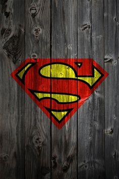 Superman Symbol on Reclaimed Wood