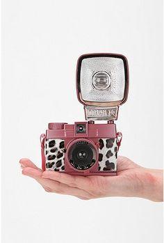 Lomography Diana F+ Flash mini camera in leopard