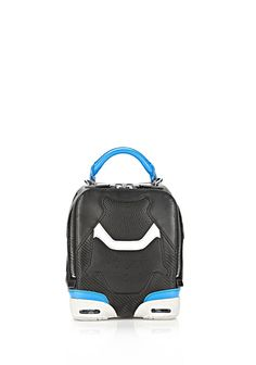 SMALL SNEAKER BAG IN BLACK AND AIRFORCE WITH RHODIUM | Shoulder Bags | Alexander Wang Official Site