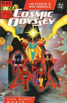 "Jim Starlin (storia) & Mike Mignola (disegni) ""Cosmic Odyssey, n.4"" - DC - Play Press, September 1990"