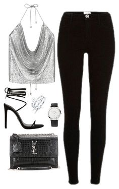 """Untitled #4494"" by magsmccray ❤ liked on Polyvore featuring River Island, Yves Saint Laurent and Links of London"