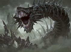 The Middengard Wyrm (from Feyre's first Trial).