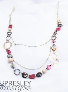 Zebra Jasper & Pink Agate Necklace by KJPresley Designs  http://www.kjpresleydesigns.com/ #jewelry #necklace @KJPresleyDesgns