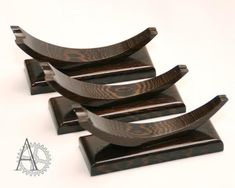 The wenge wood knife stand.