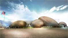 Malaysia:The entire Malaysian pavilion has been designed as rainforest seeds — showcasing the balance between respect for biodiversity and commercial agriculture found in ancient Malay traditions. (Milano Expo 2015 pavilions: Sustainable architectural marvels - courtesy expo2015.org)