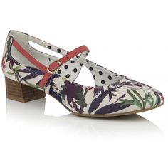 Back for summer low heeled chisel toe bar shoe Iris, with its elegant lines and bold styling, is not to be missed. Featuring a bold floral print in toning shades of blue and sage, trimmed with a pop of soft coral. Ruby Shoo, Soft Corals, Court Shoes, Low Heels, Shades Of Blue, Mary Janes, Sage, Iris, Floral Prints
