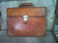 Briefcase made from leather