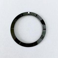 Ceramic Insert - 007 Sub Stealth Seiko Skx007 Mod, Seiko Mod, All Black, Ceramics, Watches, Ceramica, Pottery, Wristwatches, Black
