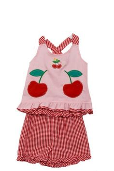 BT Kids Infant Baby Girls 2 Piece Red Pink Cherry « Clothing Impulse
