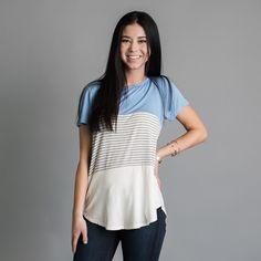Garner Stripe Top -Blue