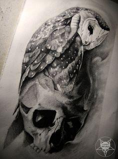 owl by AndreySkull.deviantart.com on @DeviantArt