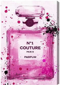 """Oliver Gal """"Couture Parfum Pink"""" Canvas Art"""