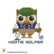 Hootie Golfer Golf Player