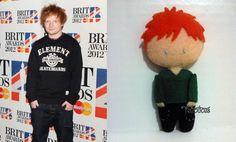 Chaveirinho em feltro personalizado a pedido de uma fã do cantor Ed Sheeran.  www.facebook.com/feltrolices