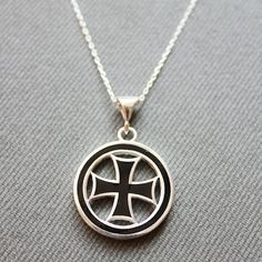 Sterling Silver Cross Necklace  Cross Charm by LibertaFashion, $23.50
