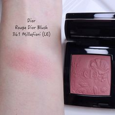 NEW Dior Limited Edition Rouge Dior Blush Millefiori (361), Mono Couleur Couture Nude Dress (573), Rouge Dior Velvet Icône (720) | Lenallure Dior Blush, Millefiori, Nude Dress, Miss Dior, Makeup Items, Floral Theme, Fall Makeup, Pink Tone, Biodegradable Products