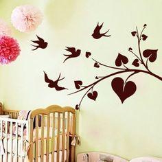 Wall-Decal-Tree-Bird-Vinyl-Sticker-Home-Decor-Interior-Design-Bedroom-Room-LM41