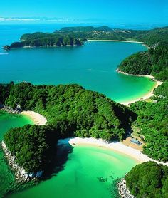 Abel Tasman National Park - New Zealand I want to be here!! With my family   All of them!!