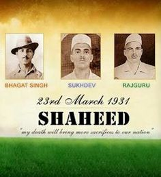 Bhagat Singh, Shukhdev and Rajguru's 86th death anniversary. #Salute #India #Shaheed