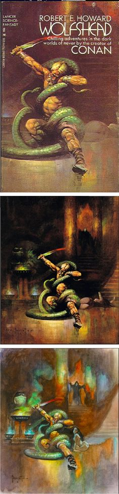 FRANK FRAZETTA - Wolfshead by Robert E. Howard - 1972 Lancer Books - print/cover by capnscomics.blogspot.com
