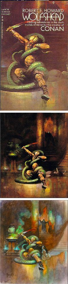 FRANK FRAZETTA - Wolfshead by Robert E. Howard - 1972 Lancer Books