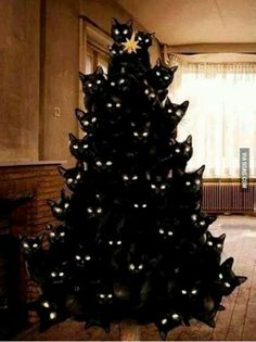 Funny pictures about Crazy cat lady Christmas tree. Oh, and cool pics about Crazy cat lady Christmas tree. Also, Crazy cat lady Christmas tree. Funny Cats, Funny Animals, Cute Animals, Funny Boy, Crazy Cat Lady, Crazy Cats, Cat Christmas Tree, Merry Christmas, Black Christmas