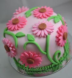 Pink Daisies Cake