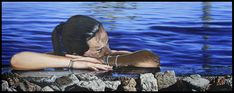 Daydreaming OIl on canvas 80x150cm