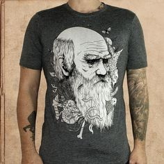Origin of Species - heather black - discharge inks - unisex – milestogoclothing