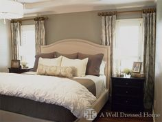 A Tranquil Master Bedroom Makeover @ A Well Dressed home | would you believe me if I told you I already designed this room in my head - the bed is on my registry & I already have the black night stands. Awesome!