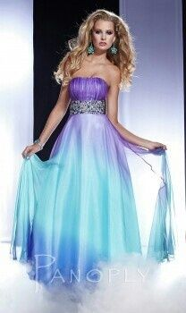 I found Strapless Hombre Purple And Blue Prom Dress on Wish, check it out!