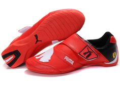 Puma Ferrari Mens Shoes Red White