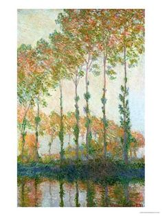 Poplars on the Banks of the Epte, Autumn, 1891 Giclee Print by Claude Monet at AllPosters.com