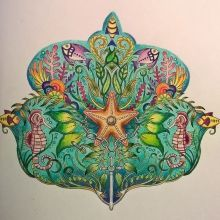 """""""Lost Ocean"""" Finished Coloring Page 