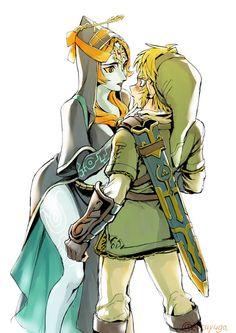 The Legend of Zelda - Twilight Princess Link anda Midna The Legend Of Zelda, Legend Of Zelda Memes, Legend Of Zelda Breath, Link And Midna, Zelda Twilight Princess, Hero Time, Wind Waker, Fan Art, Super Smash Bros