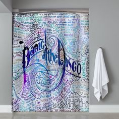 Cheap Panic At The Disco Shower Curtain