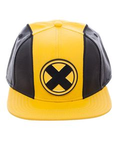 Bioworld Black   Yellow X-Men Faux Leather   Wool Snapback Hat efba64d7bfb0