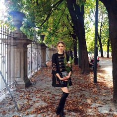 @Kristina_Bazan Walking around Milan in her Jimmy Choo TURNER Boots for the last day of MFW
