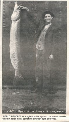 Vintage Michigan Fishing Artwork Musky Torch River Beebe Image by UpNorth Memories - Donald (Don) Harrison, via Flickr