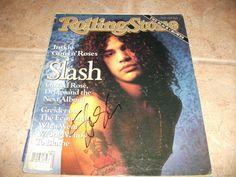Slash Guns N Roses Signed Autographed Rolling Stone Magazine Cover Photo   eBay