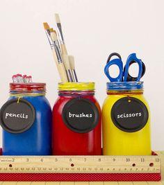 Organize your classroom with mason jars | DIY Mason Jar ideas