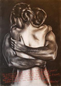 Sexy Drawings, Pencil Art Drawings, Art Sketches, Love Drawings Couple, Art Couple, Sexy Couples Art, Romantic Artwork, Art Amour, Sexy Black Art
