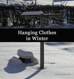 Hang Clothes inside in Winter