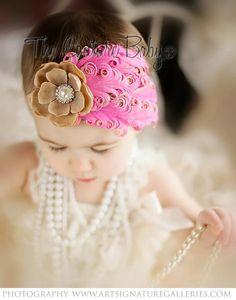 Vintage Pearl Pink Princess Headband