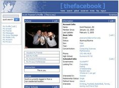 original facebook - the good ol days when it was only college people!