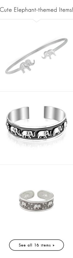 """""""Cute Elephant-themed Items!"""" by vahrendsen1988 ❤ liked on Polyvore featuring jewelry, bracelets, silver, sterling silver cuff bracelet, hinged cuff bracelet, cuff bangle bracelet, cuff bangle, diamond bangles, bangle bracelet and sterling silver bangles"""